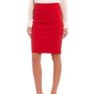 NWT Calvin Klein Red Pencil Skirt -10